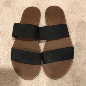 Sanuk slip on sandals